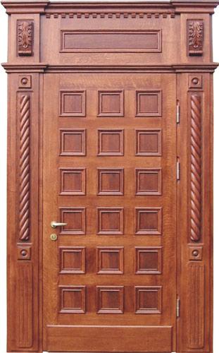 Металлические двери массив дуба